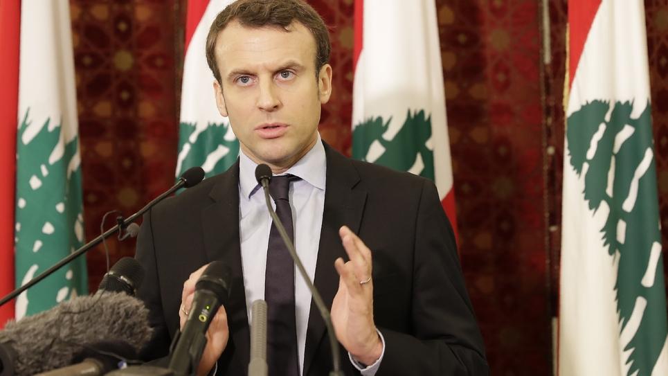 L'ex-ministre de l'Économie et candidat à la présidentielle 2017 Emmanuel Macron à Beyrouth, le 24 janvier 2017