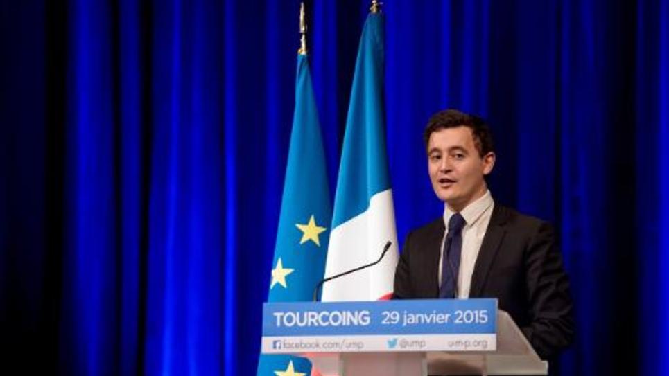 Gérald Darmanin, le député-maire UMP de Tourcoing, le 29 janvier 2015 dans sa ville