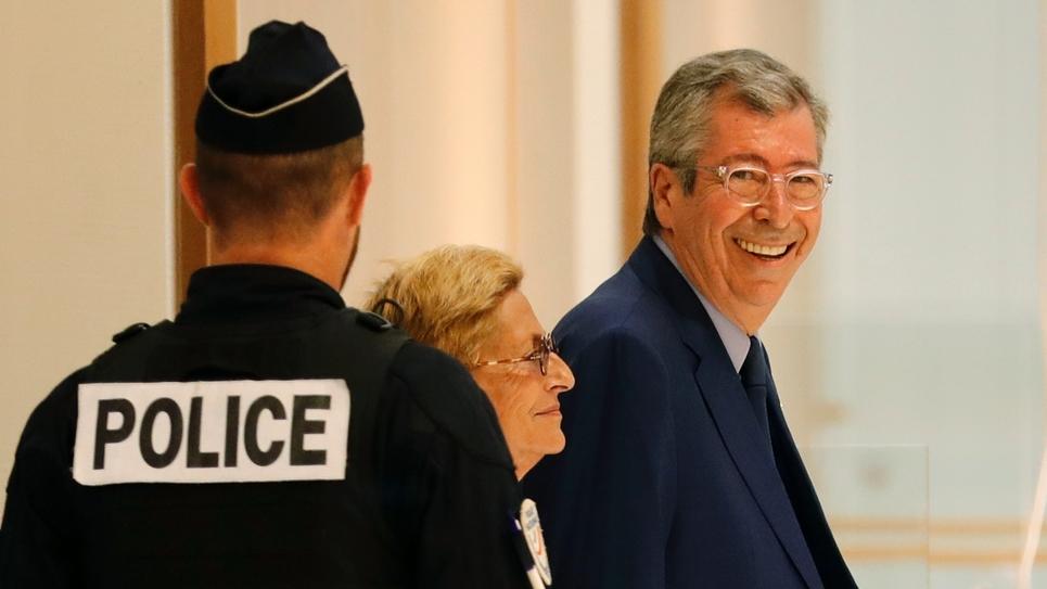 Isabelle et Patrick Balkany à leur arrivée au tribunal à Paris le 13 septembre 2019