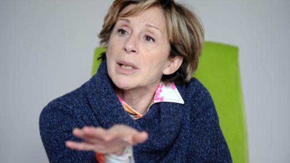 La maire de Montauban Brigitte Barèges pendant une interview le 4 mars 2015 à Montauban