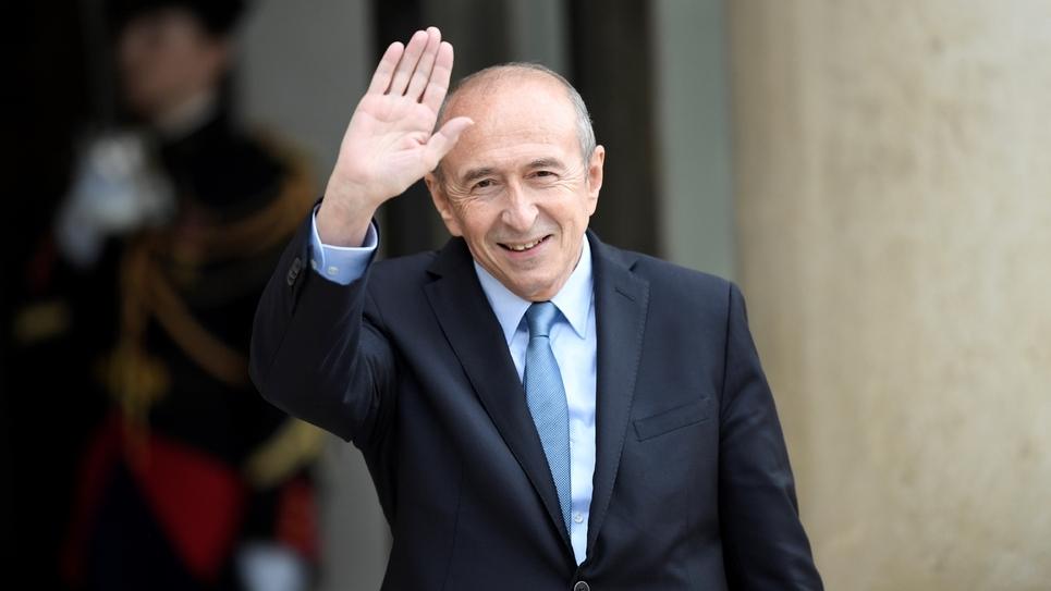 Le ministre de l'Intérieur, Gérard Collomb arrivant à l'Elysée pour participer au premier conseil des ministres du nouveau gouvernement, le 18 mai 2017