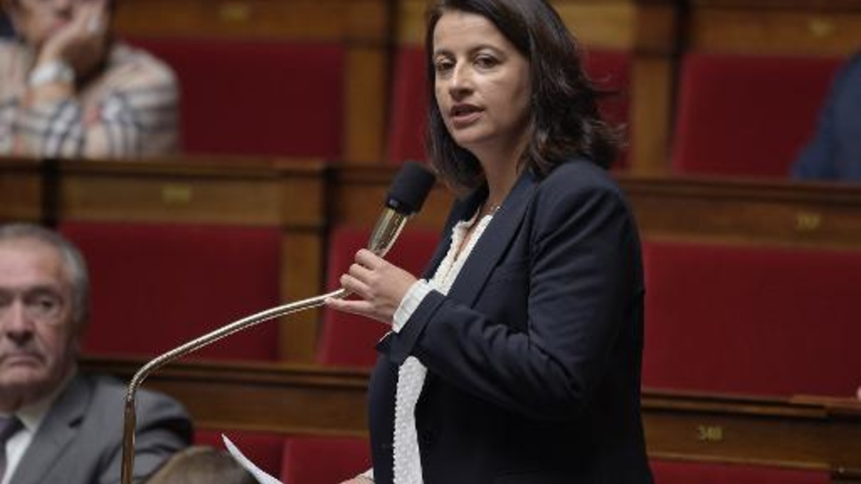 La député écologiste et ex-ministre Cécile Duflot le 4 noevembre 2014 à l'Assemblée nationale