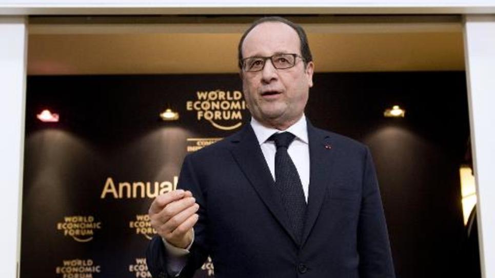 Le président François Hollande au forum de Davos, le 23 janvier 2015