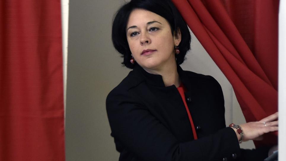 Sylvia Pinel vote à la primaire organisée par le PS à Castelsarrasin le 22 janvier 2017