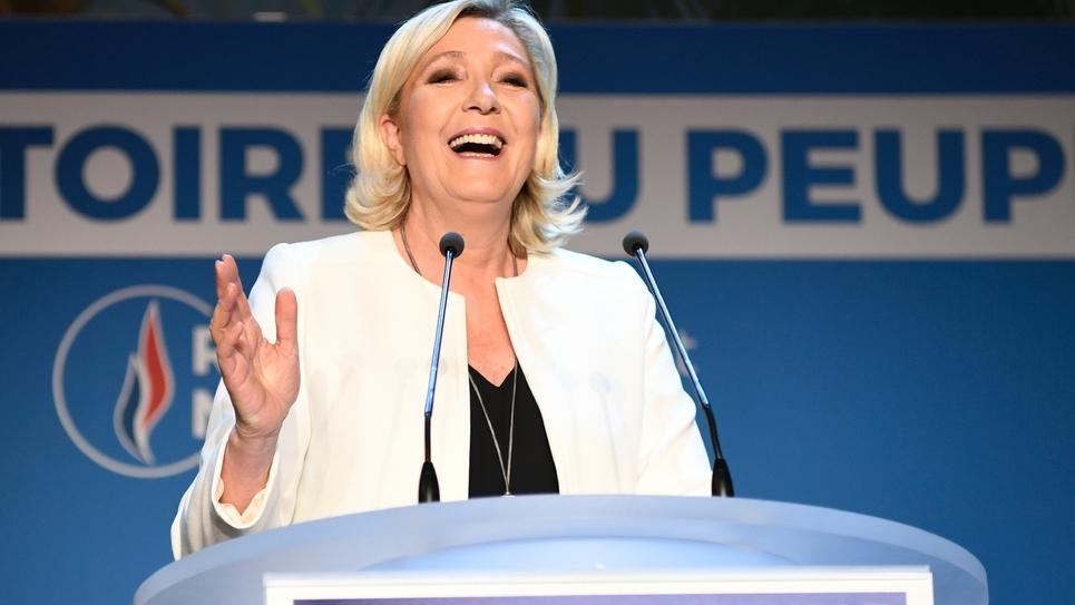 Marine Le Pen le 26 mai 2019 à Paris