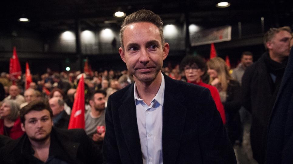 Ian Brossat, tête de liste du PCF, au meeting de Marseille le 5 février 2019