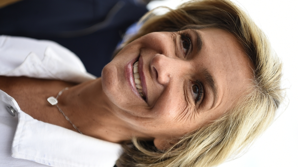 """La présidente Les Républicains de la Région Ile-de-France Valérie Pécresse souhaite que les Franciliens parrainent des arbres """"remarquables"""", ici le 10 septembre à Argenteuil."""