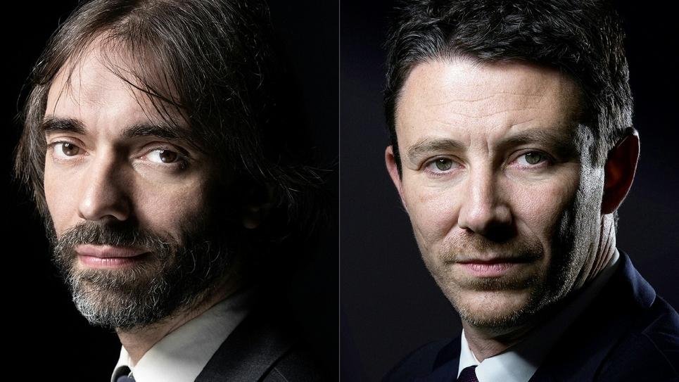 Photomontage créé le 7 sseptembre 2019 montrant Cédric Villani (G) et Benjamin Griveaux (D)