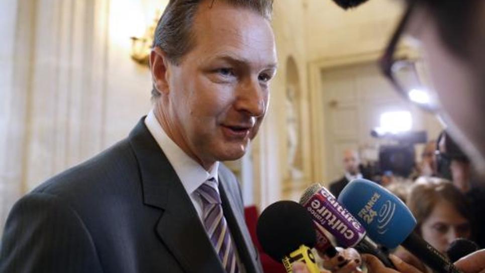 Le député de Haute-Savoie Lionel Tardy, à l'Assemblée nationale, à Paris, le 25 mai 2014