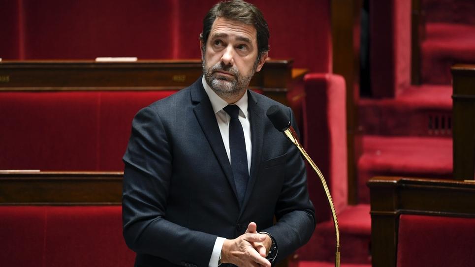 Le ministre de l'Intérieur Christophe Castaner à l'Assemblée nationale, le 7 avril 2020 à Paris