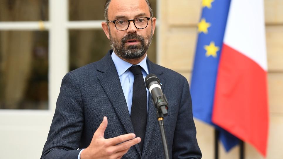Le Premier ministre Edouard Philippe s'exprime devant la presse, le 29 avril 2019 à l'Hôtel Matignon, à Paris