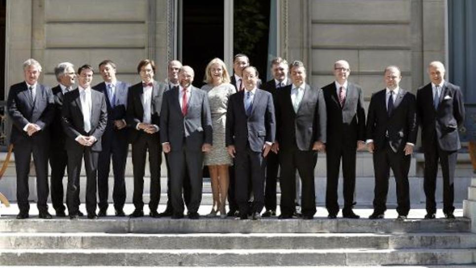 Les dirigeants sociaux-démocrates de l'UE réunis le 21 juin 2014 à l'Elysée, à Paris, pour une réunion informelle consacrée aux priorités de la prochaine Commission européenne