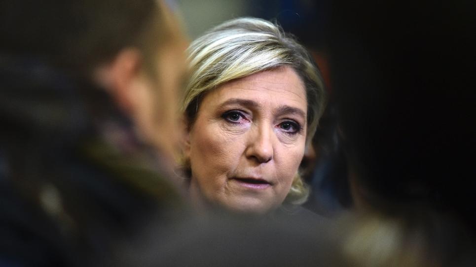 Marine Le Pen en visite à l'usine Fermap le 18 janvier 2017 à Forbach