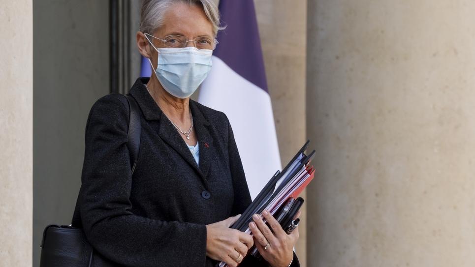 La ministre du Travail Elisabeth Borne à l'Elysée, le 31 mars 2021