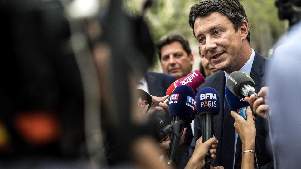 Benjamin Griveaux en campagne à Paris le 29 août 2019