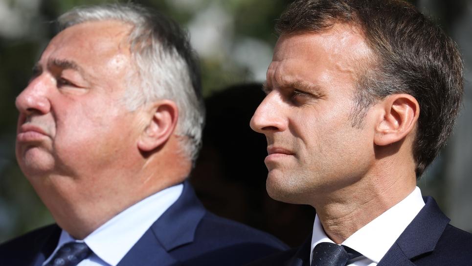 Emmanuel Macron et Gérard Larcher en septembre 2018