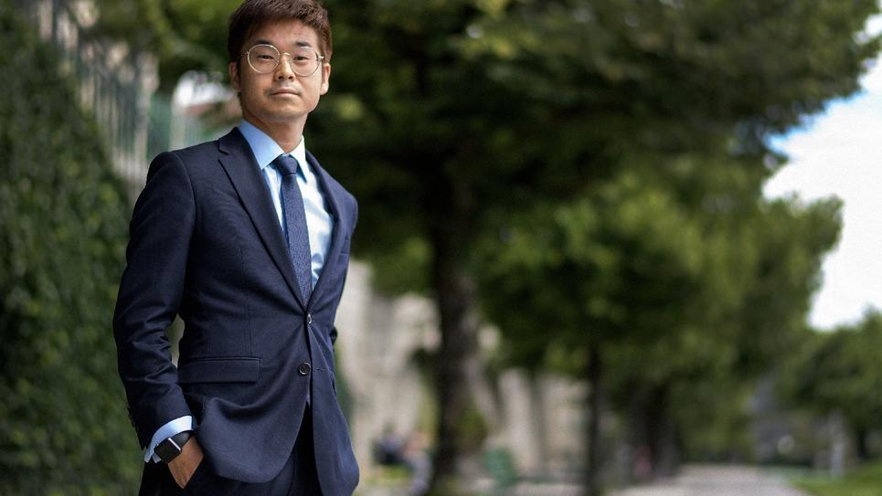 Joachim Son-Forget, élu République en marche (REM), à Lausanne, en SUisse, le 9 juin 2017