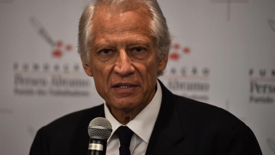 L'ancien Premier ministre Dominique de Villepin lors d'une conférence à Sao Paulo le 13 septembre 2018