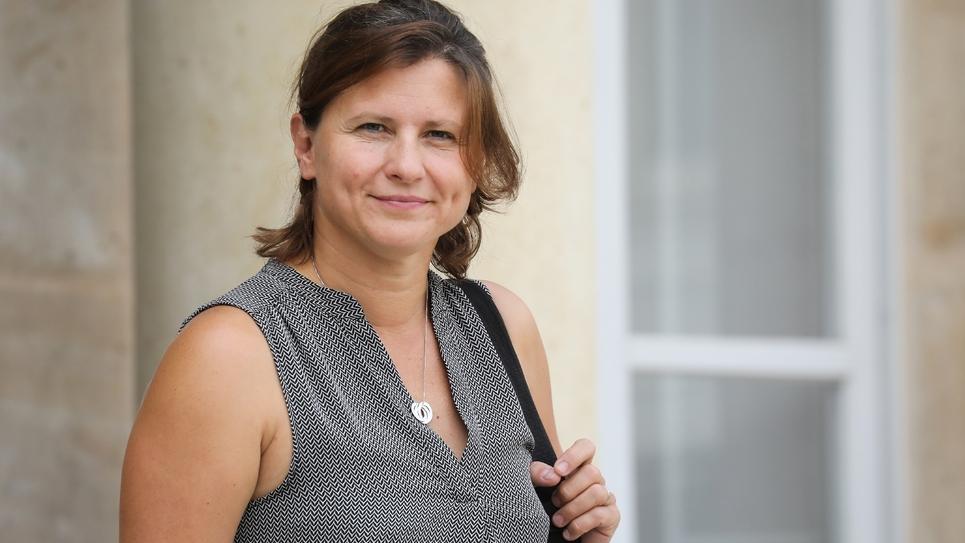 La ministre des Sports Roxana Maracineanu à l'Elysée à Paris le 28 août 2019