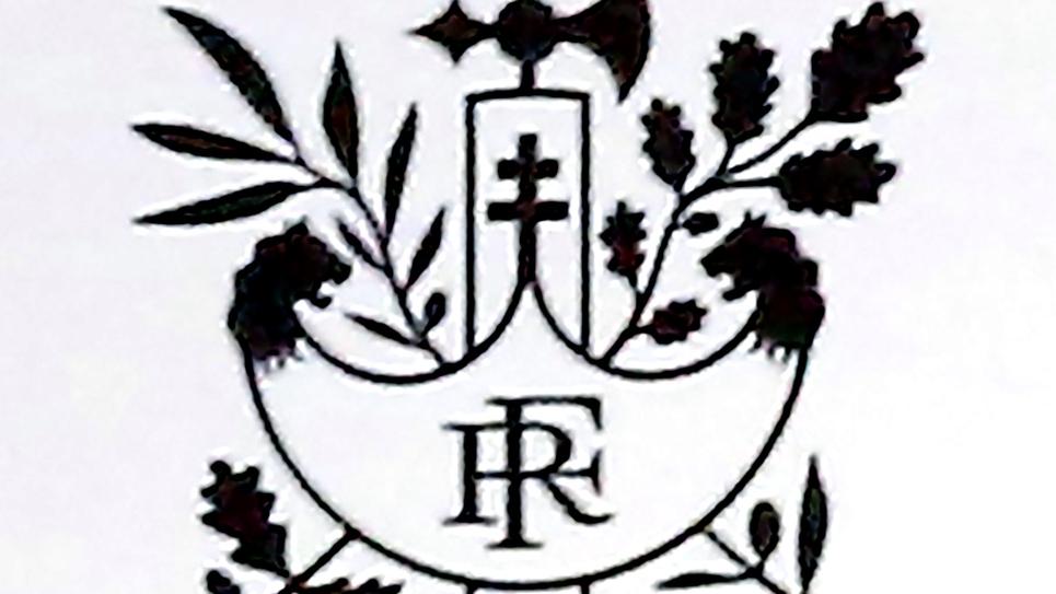 Le nouveau logo de l'Elysée avec la Croix de Lorraine, à Paris le 13 septembre 2018