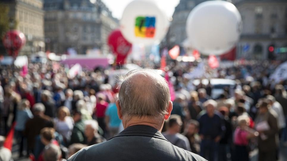 Manifestation de retraités à Paris, le 18 octobre 2018, contre la baisse des pensions