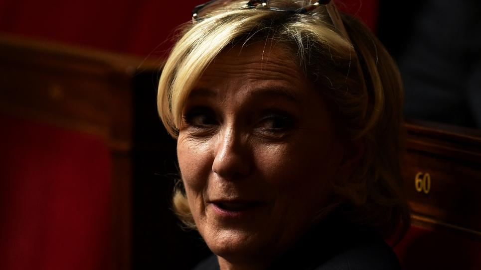 La députée du Rassemblement national (RN) Marine Le Pen à l'Assemblée nationale le 26 septembre 2018