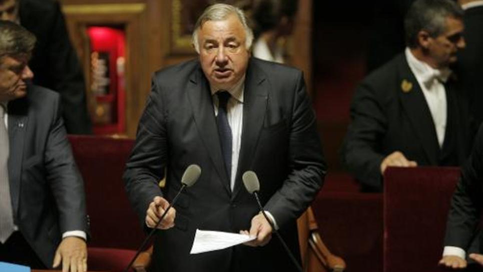 Le président du Sénat (UMP) Gérard Larcher le jour de son élection à la tête de la Chambre Haute, le 1er octobre  2014, à Paris
