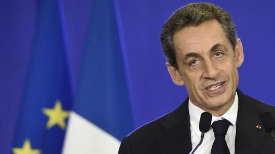 Nicolas Sarkozy au soir des résultats des élections départementales le 29 mars 2015 à Paris
