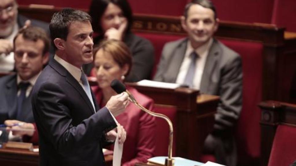 Le Premier ministre Manuel Valls à l'Assemblée nationale le 20 mai 2015