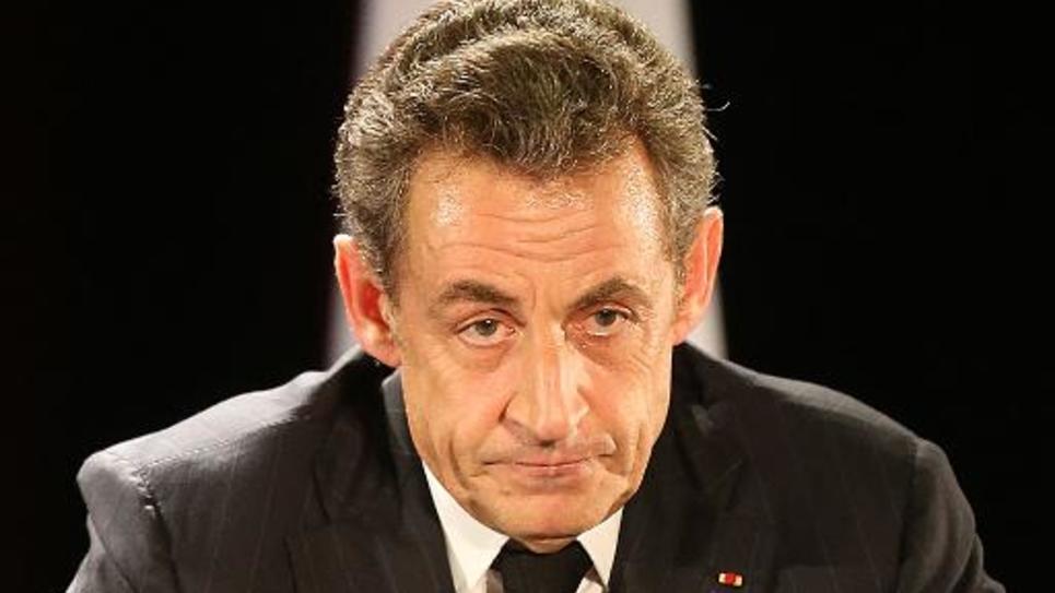 Nicolas Sarkozy lors d'un meeting le 2 octobre 2014à Saint-Julien-les-Villas dans la banlieue de Troyes