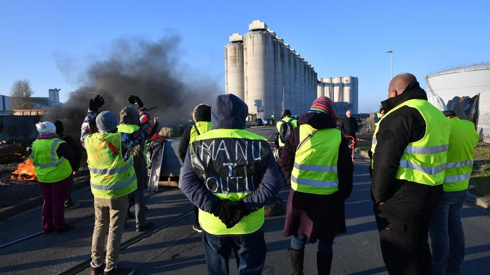 """Action de """"gilets jaunes"""" à La Rochelle le 19 novembre 2018"""
