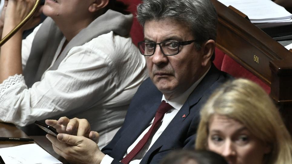 Le chef de la France insoumise Jean-Luc Mélenchon, le 16 octobre 2018 à l'Assemblée nationale, à Paris