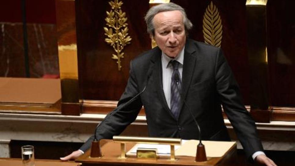 Le chef de file du groupe à dominante PRG, Roger-Gérard Schwartzenberg le 21 janvier 2015 à l'Assemblée nationale