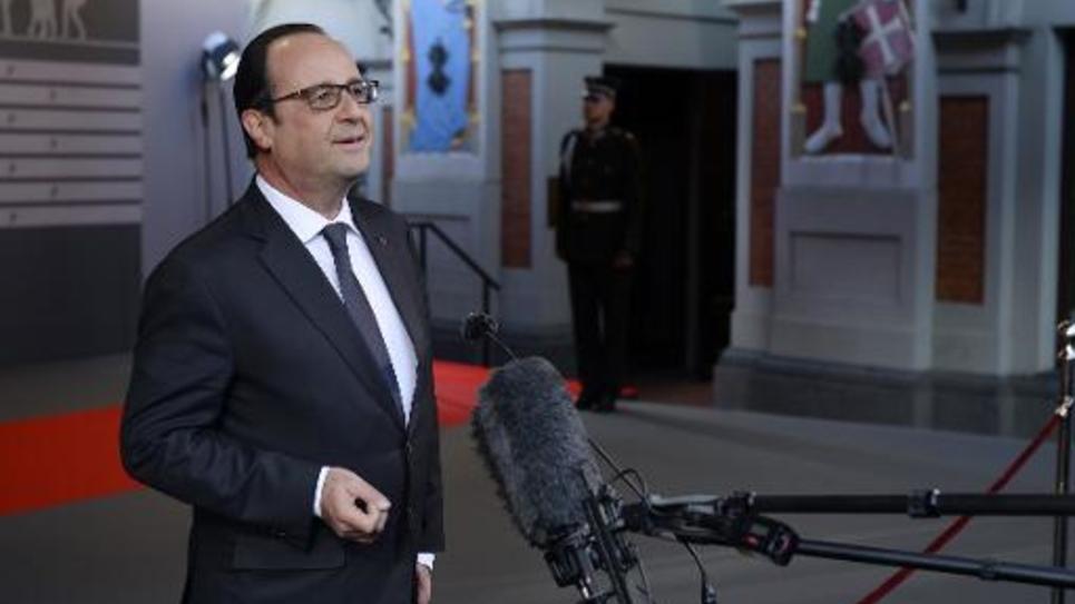 François Hollande le 21 mai 2015 à Riga