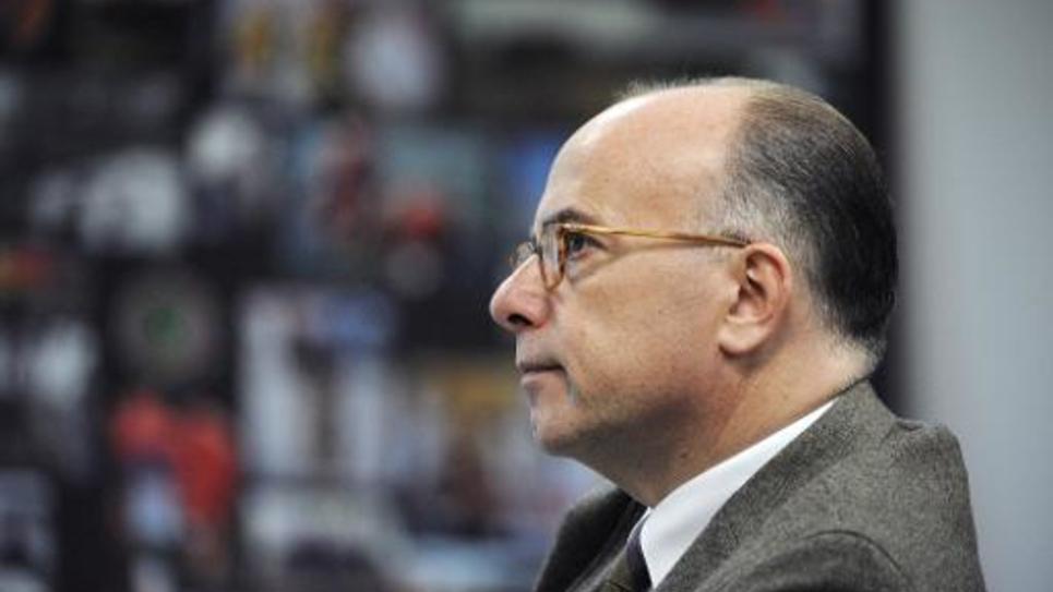 Le ministre de l'Intérieur Bernard Cazeneuve le 23 octobre 2014 à Nogent-le-Rotrou