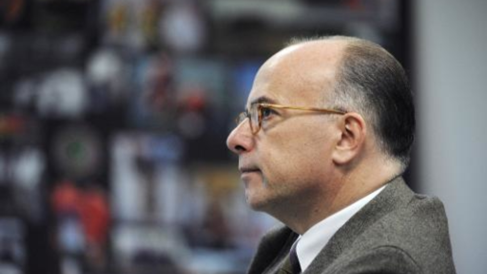 Le ministre français de l'Intérieur Bernard Cazeneuve le 23 octobre 2014 à Nogent-le-Rotrou