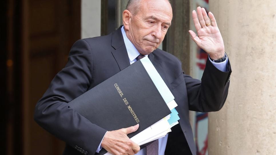 Gérard Collomb quitte l'Elysée à l'issue du conseil des ministres le 12 juin 2018