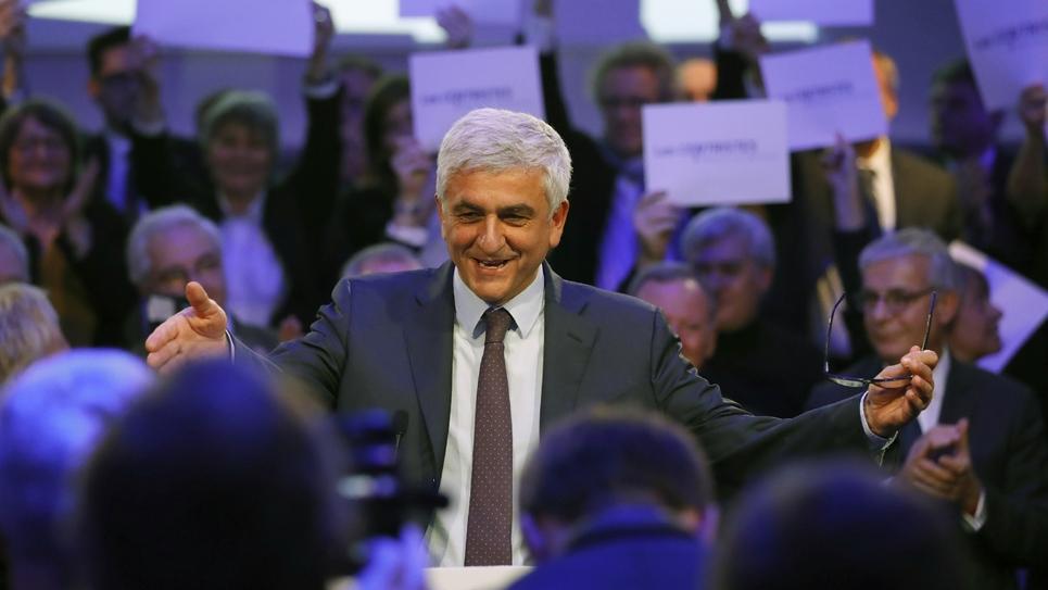 Hervé Morin, lors d'un congrès extraordinaire du Nouveau Centre, le 11 décembre 2016 à Paris