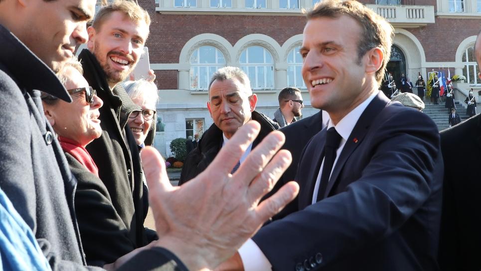 Emmanuel Macron à Albert, dans le nord de la France le 9 novembre 2018