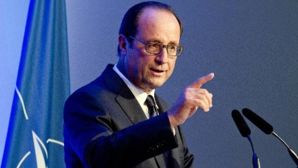 Le président François Hollande lors du sommet de l'Otan à Newport en Grande-Bretagne, le 5 septembre 2014