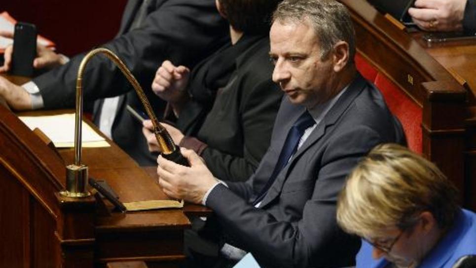 Le député socialiste Laurent Baumel le 28 octobre 2014 à l'Assemblée nationale à Paris