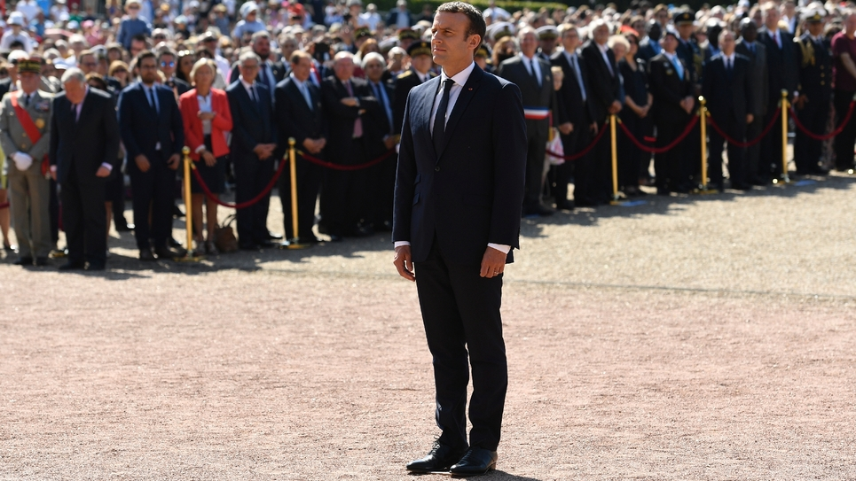 Le président de la République Emmanuel Macron a commémoré dimanche 18 juin 2017 au Mont Valérien (Suresnes), l'appel du 18 juin 1940