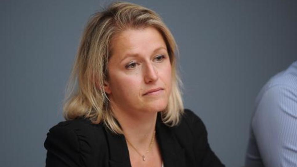 Barbara Pompili, co-présidente du groupe écologiste à l'Assemblée nationale à La Rochelle le 29 août 2014