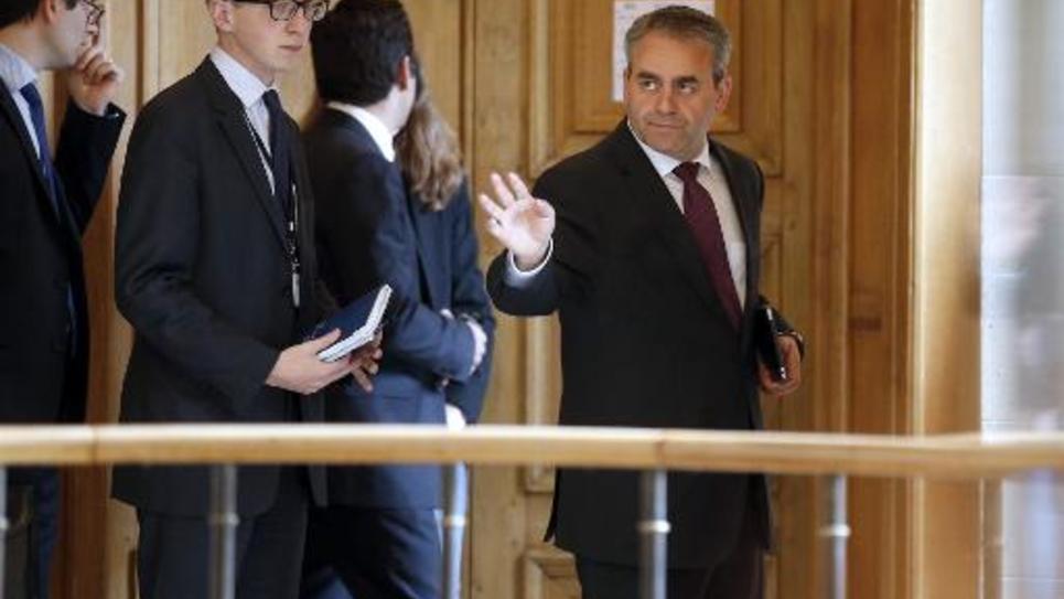 Xavier Bertrand le 27 mai 2014 à l'Assemblée nationale à Paris