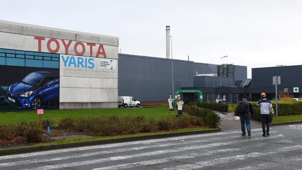 Le site de production de Toyota à Onnaing, près de Valenciennes, le 12 décembre 2017 dans le Nord