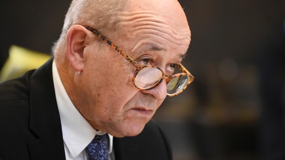 Le ministre des Affaires Etrangères Jean-Yves Le Drian, à Bruxelles, le 4 décembre 2018
