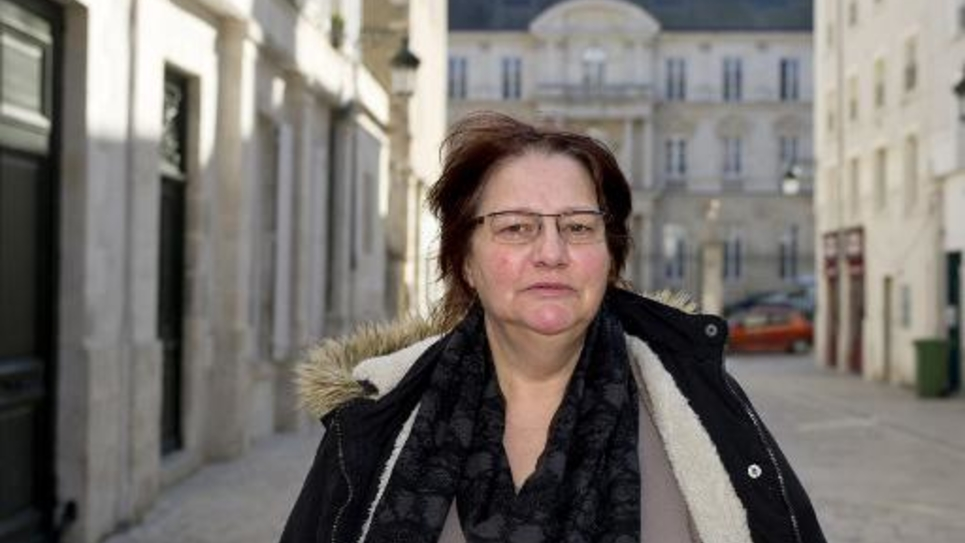 Martiale Huyghe, candidate du Rassemblement Bleu Marine à Olivet, près d'Orléans, le 5 mars 2015