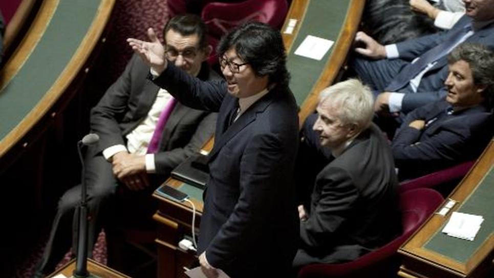 Le sénateur écologiste Jean-Vincent Placé à Paris le 1er octobre 2014