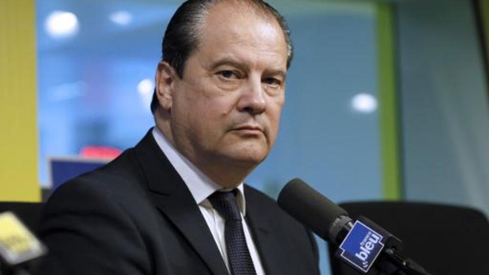 Jean-Christophe Cambadélis, premier secrétaire du PS, dans les studios de France Bleu, le 18 mars 2015 à Paris