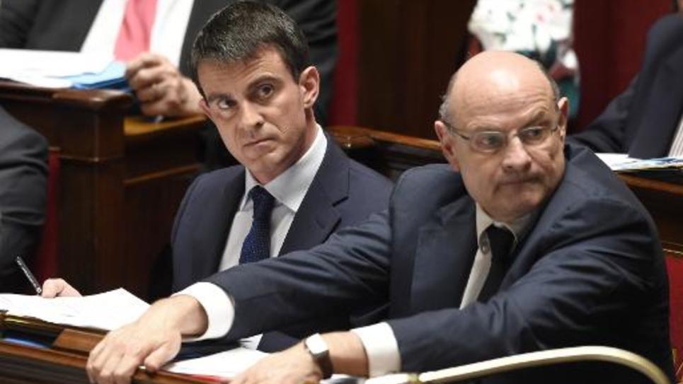 Manuel Valls et Jean-Marie Le Guen le 28 avril 2014 à l'Assemblée nationale à Paris